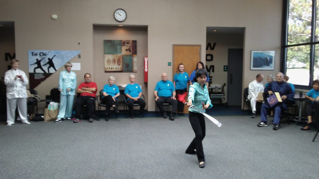 Tai Chi demonstration by Bartlesville visitors