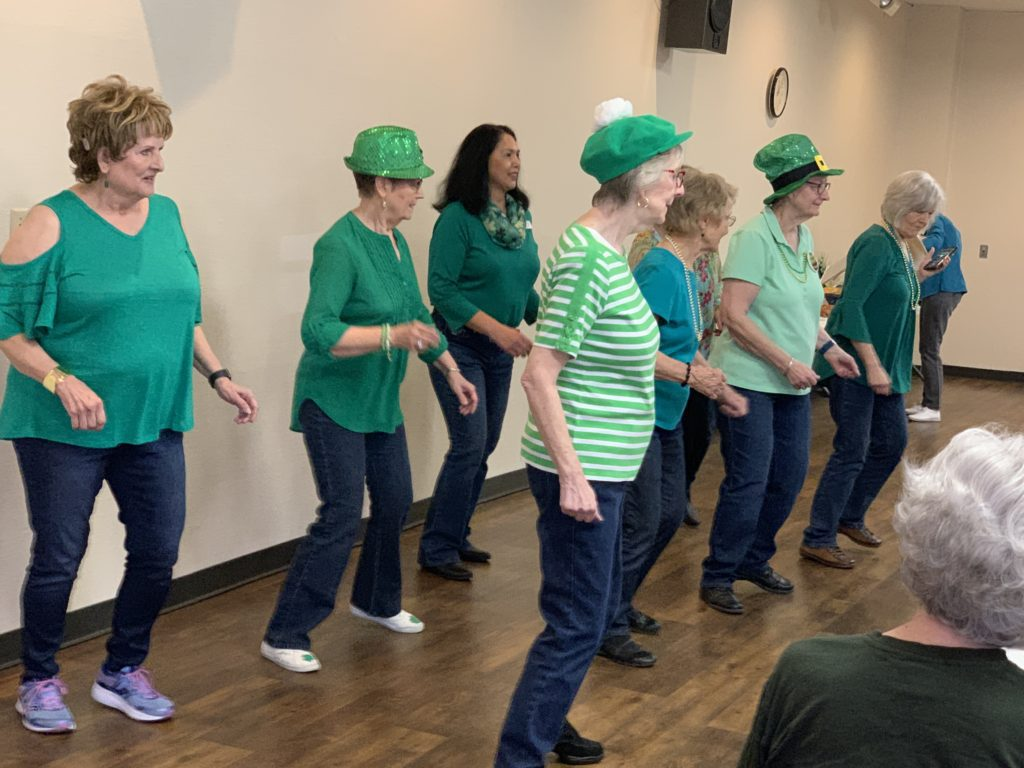 Line Dancers at St. Patrick's Day Lunch 2019